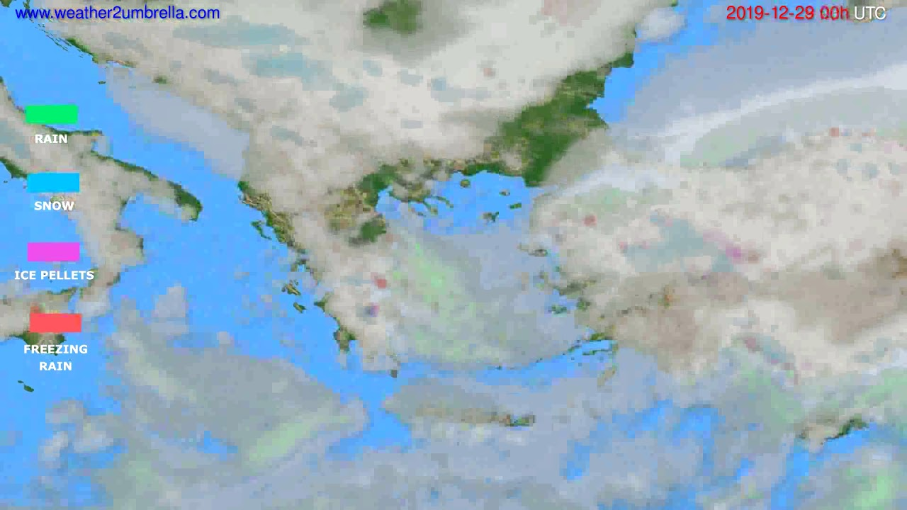 Precipitation forecast Greece // modelrun: 00h UTC 2019-12-28