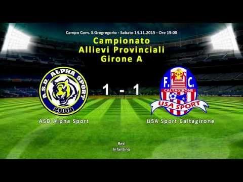 Campionato Allievi Provinciali Gir A   ASD Alpha Sport vs USA Sport Caltagirone