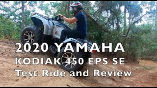 2. 2020 YAMAHA KODIAK 450 EPS SE test ride and review