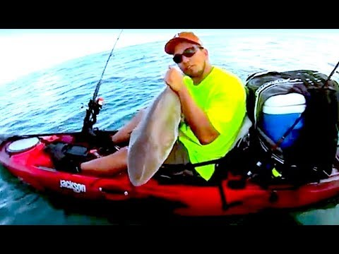 30milesOut.com~ BLACKTIP SHARK offshore kayak fishing CORPUS CHRISTI TX