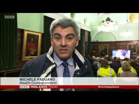 stafford hospital BBC Midlands protest 13-01-2015