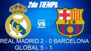 REAL MADRID VS BARCELONA FINAL VUELTA GLOBAL (3-1) SOLO RELATO Y RESULTADO EN VIVO