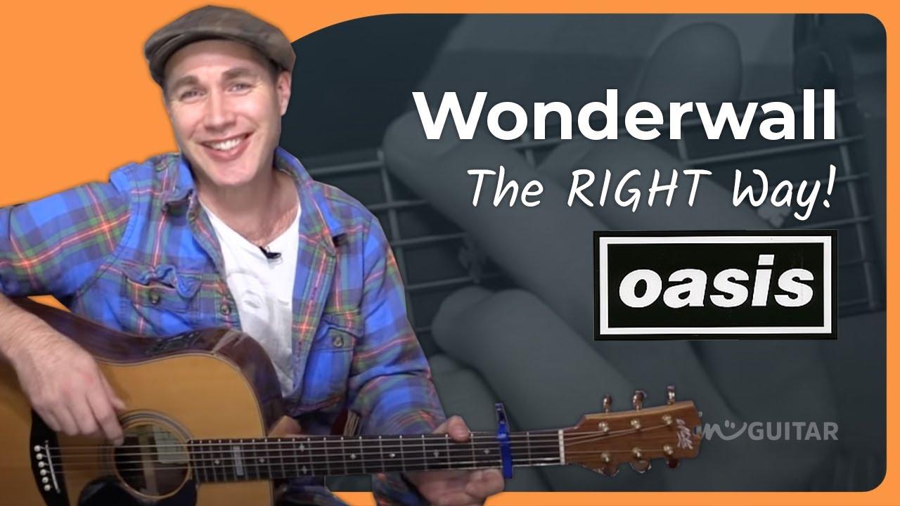 Wonderwall – Oasis – Acoustic Song Guitar Lesson (BS-805)