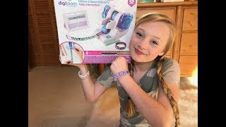 Hey Guys this crafty new toy will be available at Michaels in the US and Canada on august 4th. you can also get one from www.michaels.com. To find out more info on the DIGILOOM you can also check them out at  http://wowwee.com/digiloom.  Be sure to follow digiloom on social media for all kinds of cool ideas and new products as they become available.http://www.facebook.com/Digiloom/http://www.instagram.com/digiloom/http://www.pinterest.com/digiloom/pins/Thank you guys so much for watching and please remember to like share and comment for your chance to win the princess digiloom set and a bracelet made by me.Love you guysxoxoEllaFan mail address:princess ella's world3070 Lakecrest circle suite 400-264Lexington, KY 40513 click the link for my instagram https://www.instagram.com/princess_ellas_world/my musical.ly isella_dancer_32