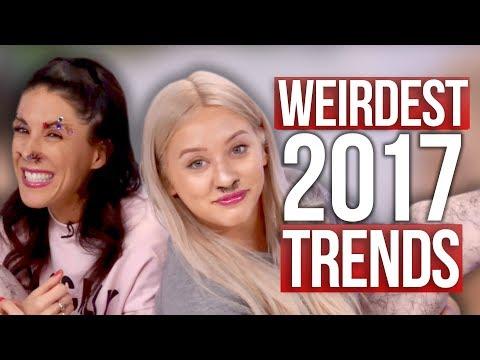 Worst & Weirdest Beauty Trends of 2017!! (Beauty Break)