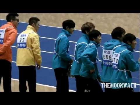 120108 Idol Star Sports Championship - BEAST's Super Reaction To MBLAQ Mir's Fast Speed