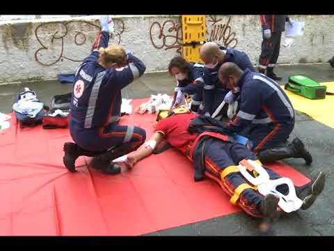 Simulação de incêndio para treinamento