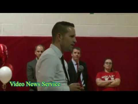 ORLEANS COUNTY/Holley/Retiring wrestling Coach John Grillo honored on Senior night