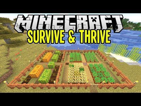 Minecraft | SUPER EASY CROP FARM | Minecraft Survival Let's Play Tutorial Ep 8