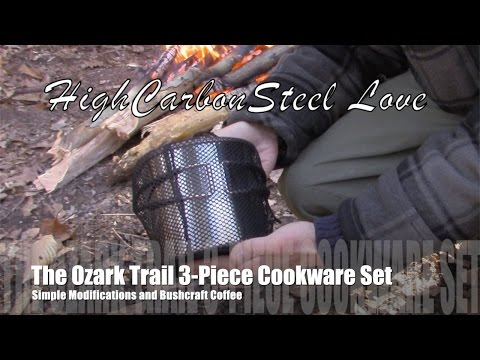 The Ozark Trail 3-Piece Cookware Set, Simple Modifications and Delicious Bushcraft Coffee