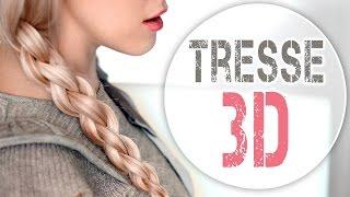 Tresse 3D à 4 brins ✿ Tuto coiffure pour tous les jours - YouTube