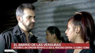 En Villa Fiorito, un comedor reparte lo que al Mercado Central le sobra y dona. Martín Ciccioli te lo muestra.