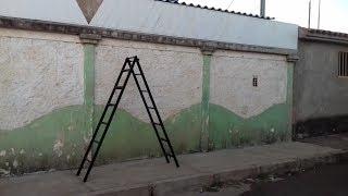 por menos de 70 reais ,faça vc mesmo uma escada dupla regulável!!02 barras de metalon 40x20 na chapa 2080 cm ferro chato de 20 mm500g eletrodos15 cm ferros coluna construção