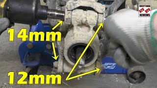 10. Suzuki KingQuad AXi 450 500 700 750 - Removing the Rear Knuckle & Greasing Wheel Bearings