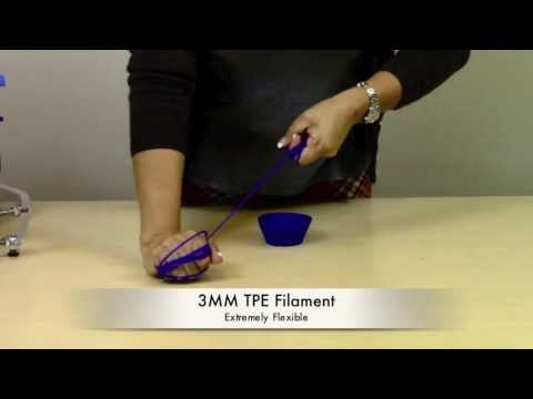 TPE 3D Printer Material Demo