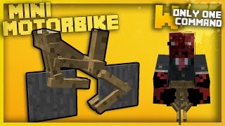 Minecraft - SMALLEST MOTORBIKES EVER With Only One Command Block (Mini Motorbikes!)