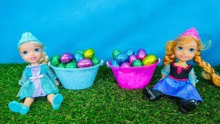 Video Elsa and Anna toddlers Easter egg hunt with their friends MP3, 3GP, MP4, WEBM, AVI, FLV April 2019