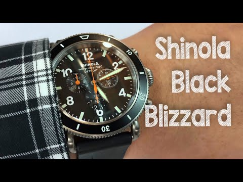 The Black Blizzard titanium watch by Shinola Detroit review (Runwell Sport Chrono style)