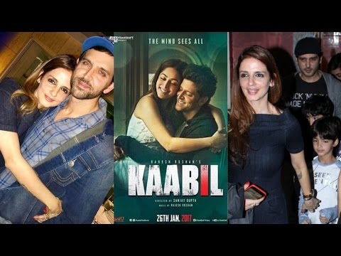 Sussane Attends Hrithik Roshan's Kaabil Screening