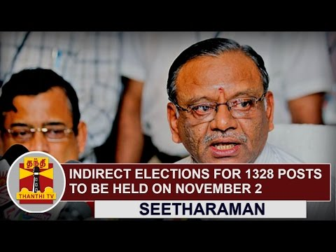 Indirect-elections-for-1328-posts-to-be-held-on-November-2-2016-Seetharaman-Thanthi-TV