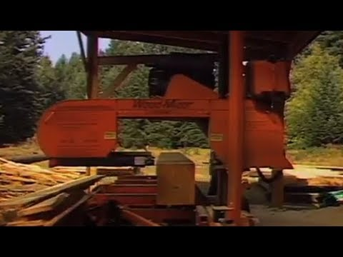 In this video Merve Wilkinson talks about directional falling. Mark Randon is milling an old growth fir and Merve explains the benefits of the portable Wood-Mizer Sawmill onsite.