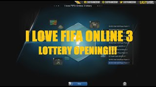 OPENING 100 x I LOVE FIFA ONLINE 3 LOTTERY!!!!, fifa online 3, fo3, video fifa online 3