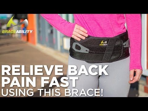 How to Relieve Back Pain Instantly Using This Back Support Brace