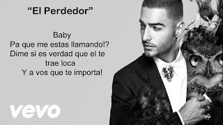 Maluma - El Perdedor (Video con letra/lyrics-Activar Subtítulos ) Official Reggaeton