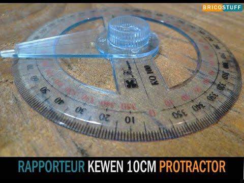 Rapporteur d\'angle circulaire 360° double graduation diamètre 10 cm Kewen K Q 100 - Banggood