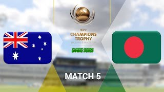 """ICC CHAMPIONS TROPHY 2017 GAMING SERIES - AUSTRALIA v BANGLADESH - GROUP A MATCH 5 (DON BRADMAN CRICKET 17, FULL 1080P HD, 30FPS, XBOX ONE S)Check out the Champions Trophy 2013 Gaming Series playlisthttps://www.youtube.com/playlist?list=PLdKwevnrzNGy2Jax2seo6LK0hiYjwt1PKICC Champions Trophy 2017 FixturesMatch 1 - England v BangladeshMatch 2 - Australia v New ZealandMatch 3 - South Africa v Sri LankaMatch 4 - India v PakistanMatch 5 - Australia v BangladeshMatch 6 - England v New ZealandMatch 7 - Pakistan v South AfricaMatch 8 - Sri Lanka v IndiaMatch 9 - New Zealand v BangladeshMatch 10 - England v AustraliaMatch 11 - India v South AfricaMatch 12 - Sri Lanka v Pakistan Semi Final GA1 v GB2Semi Final GB1 v GA2Final TBD v TBD*Warning: The following is a gameplay from the video game """"Don Bradman Cricket 17"""" for the ps4, Xbox one s and pc. It is by no means actual highlights of the ongoing event """"""""ICC Champions Trophy 2017""""  My gaming setuphttps://www.elgato.com/en/gaming/game-capture-hd60http://store.steampowered.com/app/464850/Don_Bradman_Cricket_17/http://www.vegascreativesoftware.com/ca/vegas-pro/Like me on Facebookhttps://www.facebook.com/PGEHamzah/?ref=bookmarksBe sure to message me any important questions onto there.Comment who you think will win the ICC Champions Trophy 2017 Gaming Series.Be sure to subscribe to join the PGE Army!"""