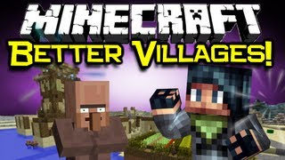 Minecraft - VILLAGE-UP MOD Spotlight! - Better NPC Villages! (Minecraft Mod Showcase)