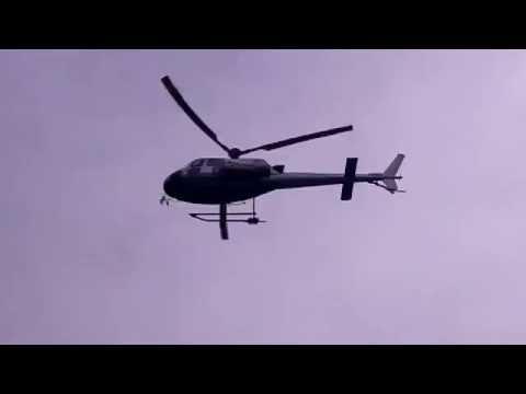 Esercitazione Odescalchi 2016, anche l'elicottero dei pompieri a Ponte Chiasso