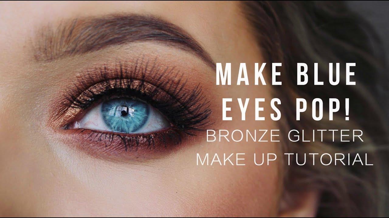 Бронзовый блеск для голубых глаз