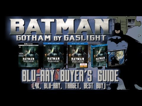 BATMAN: GOTHAM BY GASLIGHT - BLURAY UNBOXING (4K, BLURAY, BEST BUY, TARGET) - BLURAY BUYERS GUIDE