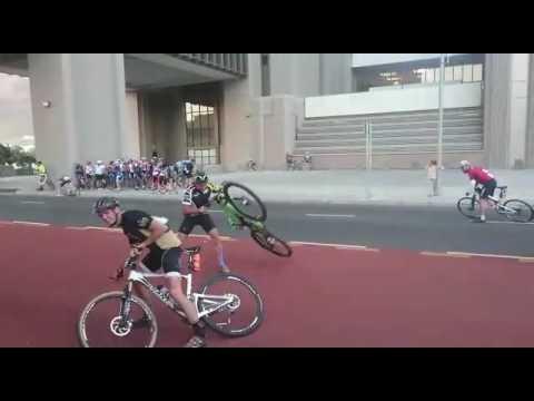 Polkupyöräkilpailu keskeytettiin – tuuli vei voiton!