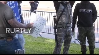 USA: Tempers flare as WLM and BLM rallies take place in Houston