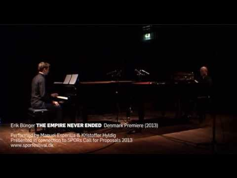erikbunger - Erik Bünger THE EMPIRE NEVER ENDED (2013) Performed by Manuel Esperilla & Kristoffer Hyldig (Duo Cacio e Pepe) Presented in connection to SPORs Call for Prop...