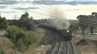 Galong Australia  city images : Grain trains at Galong : Australian Trains