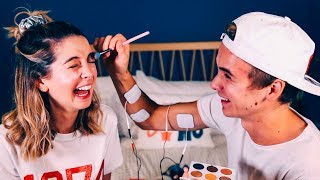 Brother Does My Makeup (Shock Edition) | Zoella