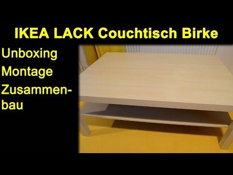 IKEA LACK Couchtisch Birke - Unboxing, Zusammenbau, Montage, Review, Test, Anleitung | Deutsch 1080p