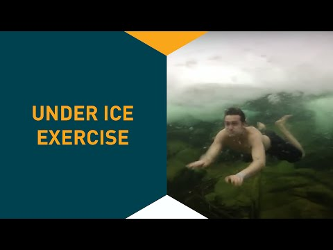 Under ice, exercise in Poland