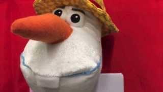 Disney Frozen Singing Olaf Snowman Stuffed Toy Olaf In Summer By DisneyToysReview