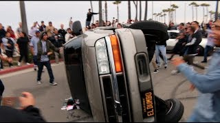 Video TRUCK FLIPS OVER WHILE TRYING DONUTS! ( Destroyed ) MP3, 3GP, MP4, WEBM, AVI, FLV Februari 2019