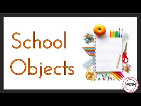 School Objects: English Vocabulary