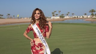 Top Model of the World Mexico. 2nd Runner Up Norhely Celaya Bracamontes in Interview in El Gouna, Red Sea