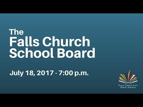School Board Work Session: July 18, 2017