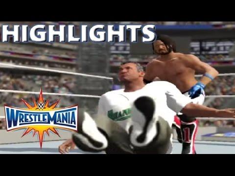 WWE 2K17 RECREATION: AJ STYLES VS SHANE MCMAHON | WRESTLEMANIA 33 HIGHLIGHTS
