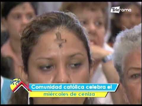 Comunidad católica celebra el miércoles de ceniza