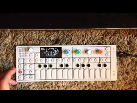 Making a song with an OP-1 synthesizer