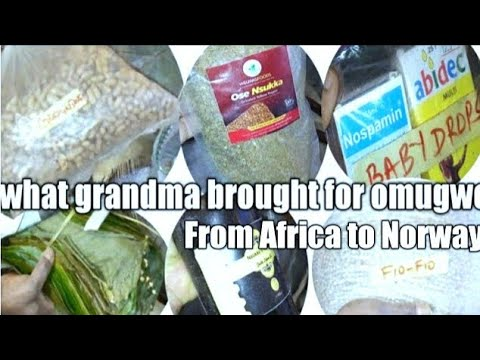 What Grandma brought for omugwu. Food stuffs you can bring from Africa to Europe